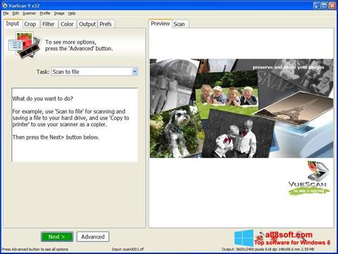 צילום מסך VueScan Windows 8