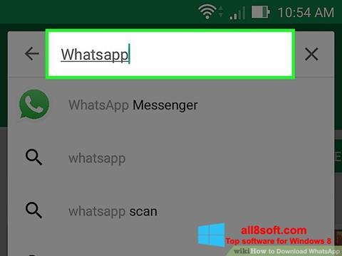צילום מסך WhatsApp Windows 8