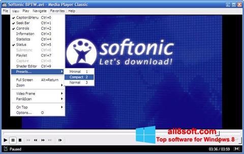 צילום מסך Media Player Classic Windows 8