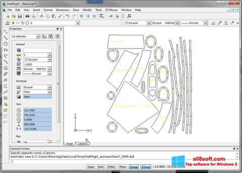 צילום מסך DraftSight Windows 8