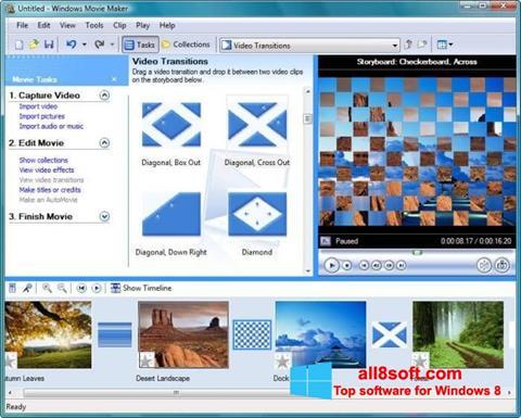 צילום מסך Windows Movie Maker Windows 8