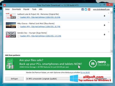 צילום מסך Free YouTube Download Windows 8
