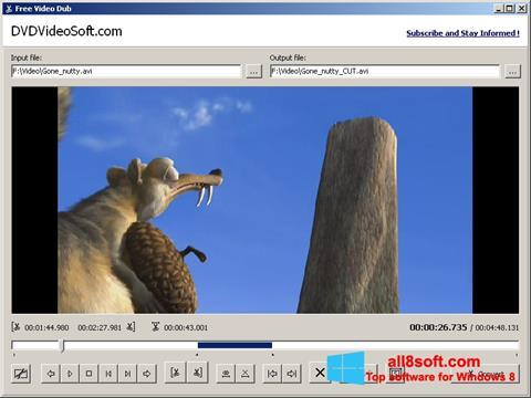 צילום מסך Free Video Dub Windows 8