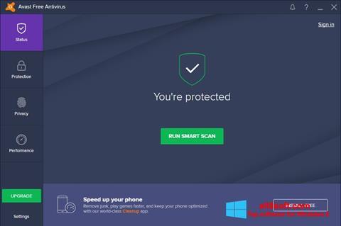 צילום מסך Avast Free Antivirus Windows 8