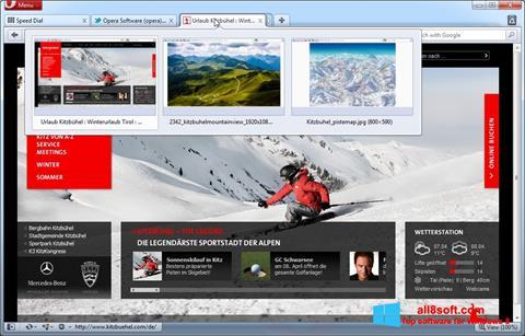 צילום מסך Opera Windows 8