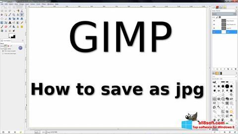 צילום מסך GIMP Windows 8