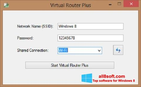 צילום מסך Virtual Router Plus Windows 8