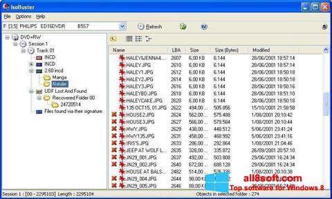 צילום מסך IsoBuster Windows 8