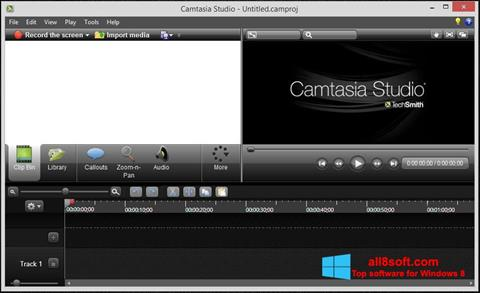צילום מסך Camtasia Studio Windows 8