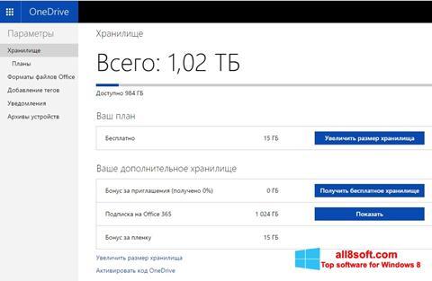 צילום מסך OneDrive Windows 8